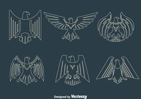 Eagle Seal Line Vectors