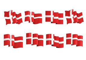 Set Flag of Denmark or Danish Flag