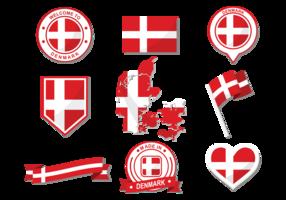 Danish Flag Vector