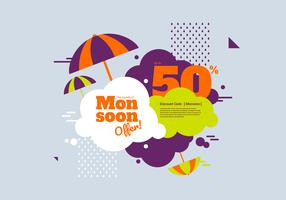 Monsoon Discount Vector Banner