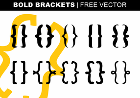 Bold Brackets Free Vector
