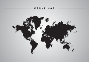 Drop Shadow World Map Vector