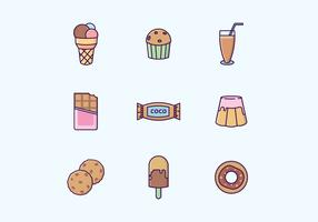 Chocolate Sweets & Drinks Vector Set