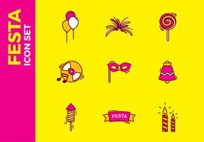Festa Icon Free Vector