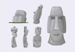 Easter Island Stone Statue Illustration Vector