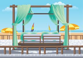 Outdoor Cabana Bed at a Resort