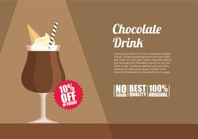 Chocolate Drink Template Free Vector