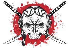 Skull Of Kamikaze Vector