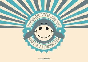 Cute Manatee Appreciation Day Illustration