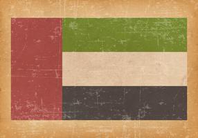 United Arab Emirates Flag on Grunge Background