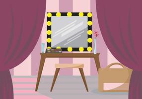 Feminine Dressing Room Vector Scene