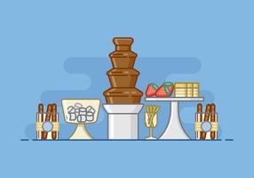 Baby Shower Chocolate Fountain Illustration