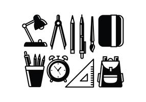 Free School Supplies Vectors