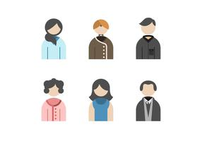 Free Beautiful Family Avatar Vectors