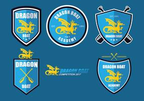 Dragon Boat Academy Logo Set Vector