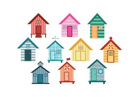 Free Beach Huts Vector