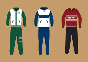 Sweatpants Suit Free Vector