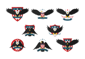 Eagle Seal Flat Icons