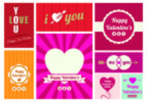 San Valentin Day Greeting Card Vectors