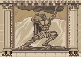 Hercules Statue Facade Vector