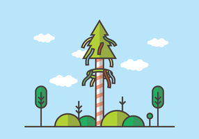 Maypole Vector Illustration