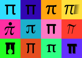 Black Pi Symbol Vector