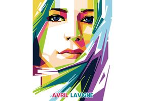 Avril Lavigne Vector WPAP