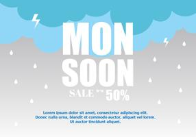 Monsoon Sale Background Vector