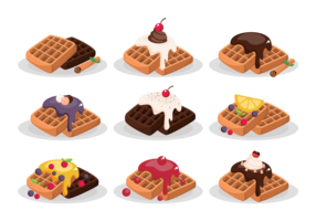 Waffle Icons Vector