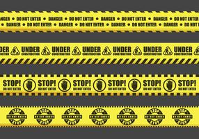 Warning Tape Vector Signs