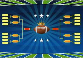 Football Tournament Bracket Vector