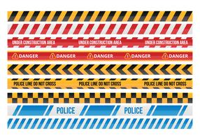 Free Danger Tape Vector Collections