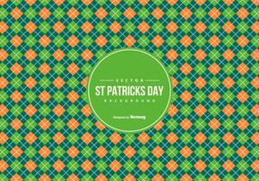 Argyle Pattern Background in St Patrick Day Colors