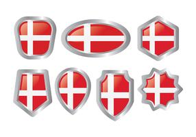 Free Danish Flag Icons Vector