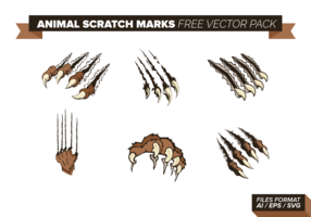 Animal Scratch Marks Free Vector Pack