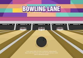 Bright Fun Bowling Lane Vector