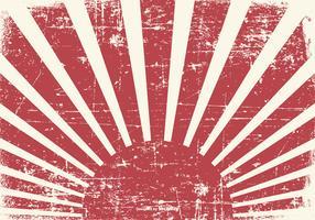 Old Grunge Kamikaze Style Background