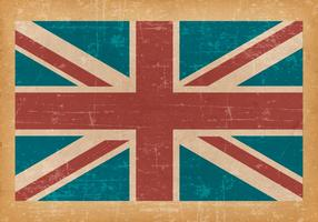 United Kingdom Flag on Old Grunge Background