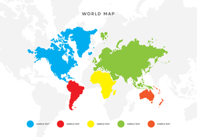 World Map Vector with Pointers