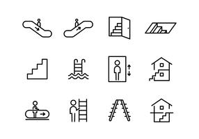 Stairs And Gateway Icons