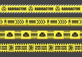 Yellow Danger Tape Sign Vectors