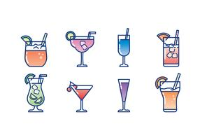 Glass of Cocktail Icon Set