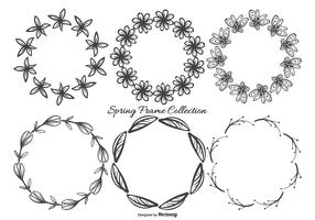 Cute Sketchy Spring Frames Collection