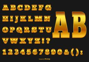 Elegant Gold Alphabet Collection