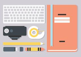 Free Flat Workstation Vector Elements