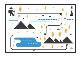 Nordic Walking Map Vector