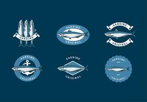 Sardine Logo Template Free Vector