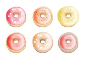 Vector Hand Drawn Donuts Collection