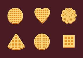 Waffles Slice Isolate Shape Vector Stock