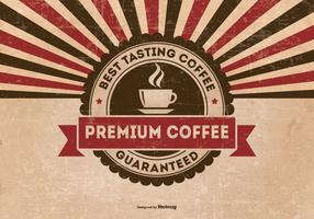 Retro Grunge Premium Coffee Background